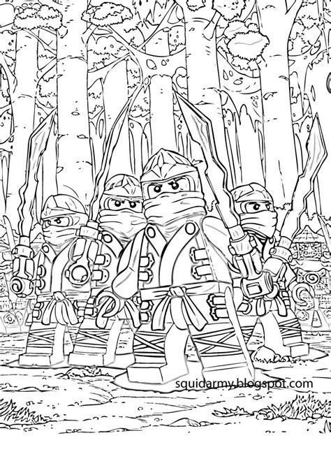 lego ninjago coloring pages squid army