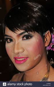 young and beautiful thai lady ( LADYBOY) with make up ...