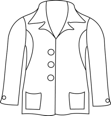 winter coat clipart black and white jacket outline clipart clipart suggest