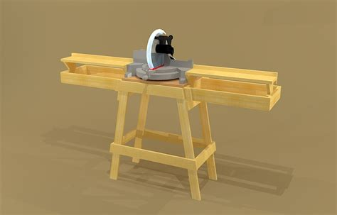 portable table saw stand plans free creekside woodshop sketchup drawings