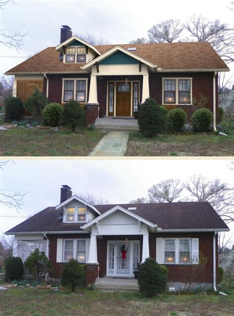 before and after exterior home makeovers before after home makeover marquis cayce of nashville tn shake it up exterior color