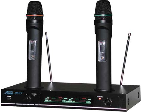 mc cable audio 2000 awm6112 dual rechargeable vhf wireless