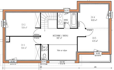 plan de maison contemporaine 4 chambres plan maison moderne gratuit pdf