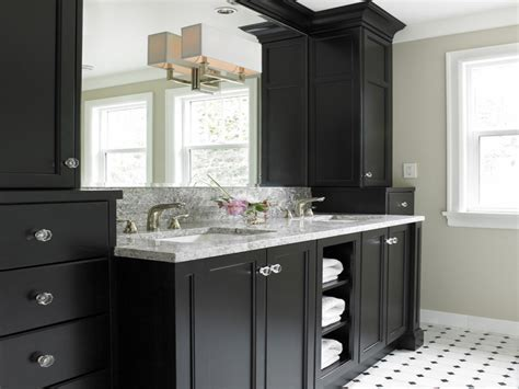 Black Cabinets Bathroom by Oval Bathroom Cabinet And Black Kitchen Cabinets