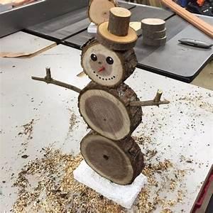 Décoration De Noel à Fabriquer En Bois : decoration de noel sur rondin de bois ~ Voncanada.com Idées de Décoration