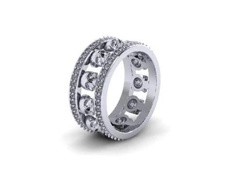 diamond skull eternity band udinc0535 mens wedding band