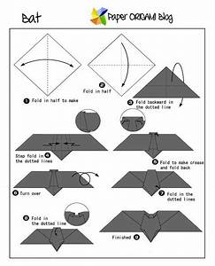 folding template for clothes animals origami a bat paper origami guide