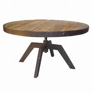 Grande Table Basse Ronde : grande table basse ronde jp2b d coration ~ Teatrodelosmanantiales.com Idées de Décoration