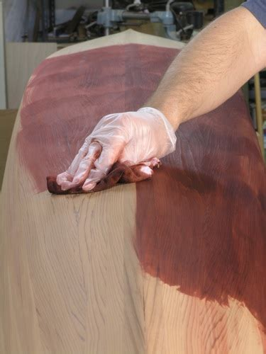staining  kayak behlen solar lux stains