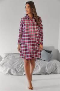 Pink  U0026 White Checked Longline Night Shirt With Metallic Thread  Plus Size 16 To 36