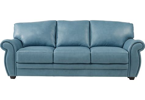 blue leather sleeper sofa blue leather sofas okaycreations net