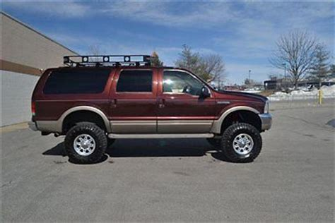 excursion roof rack buy used 2001 ford excursion ltd 4x4 v10 lift tires wheels