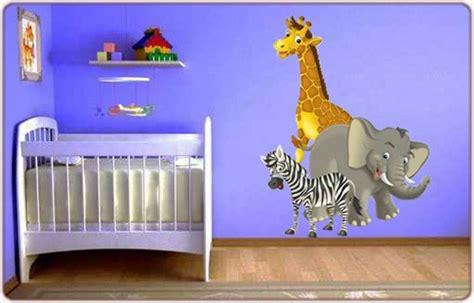 chambre bébé animaux sticker enfant animaux afrique un sticker enfant avec