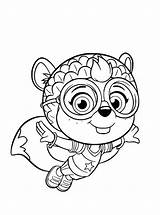 Wing Coloring Printable Shirley Squirrely Abby Hatcher Cool Squirrel sketch template