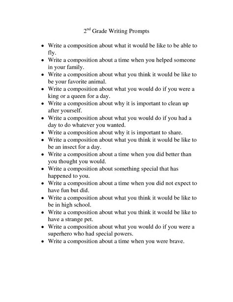 writing prompts worksheets for 2nd grade 14 best images of journal prompt worksheets journal