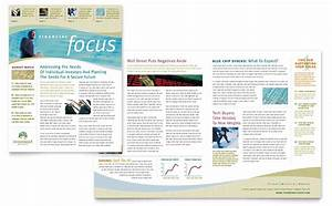 newsletter layout templates free download - investment management newsletter template word publisher