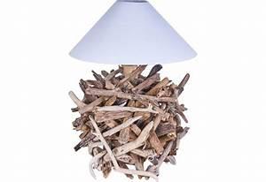 Luminaire En Bois Flotté : lampe poser granat en bois flott pour le salon koh deco ~ Teatrodelosmanantiales.com Idées de Décoration