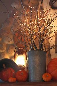 lighted tree branches Lighted Branches in Autumn Floral Arrangement - Trendy ...