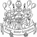 Coloring Pages Poker Nights Five Freddys Together Sister Location Getdrawings sketch template
