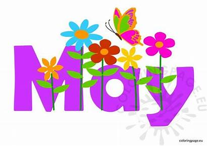 Month Clipart Coloring Spring