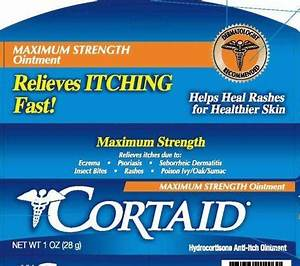 Cortaid Maximum Strength  Ointment  Johnson  U0026 Johnson Consumer Products Company  Division Of