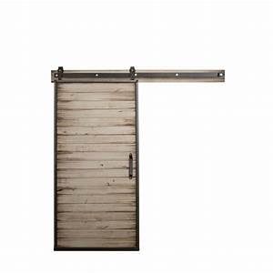 rustica hardware 36 in x 84 in mountain modern white With 36 inch barn door hardware