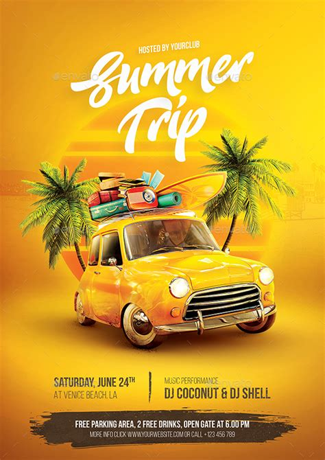summer trip flyer  bornx graphicriver