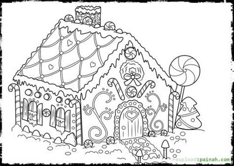 gingerbread house coloring pages 154436 500x355(500