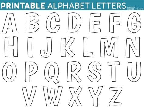 free printable alphabet letters free printable block letters letters font 53250