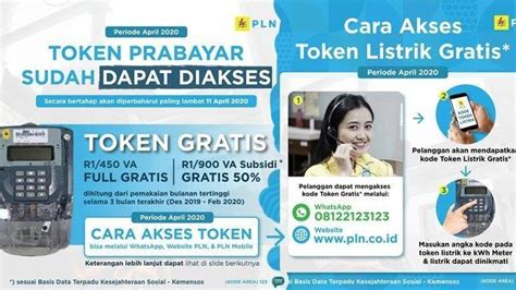 whatsapp  bisa diakses token listrik gratis pln