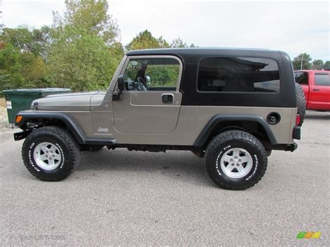 jeep metallic 2004 light khaki metallic jeep wrangler sport 4x4