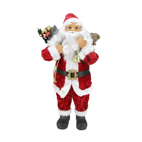 24 quot classic traditional red and white standing santa claus