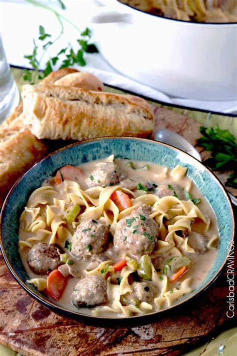 All reviews for thai chicken meatball noodle soup. Swedish Meatball Soup - Carlsbad Cravings