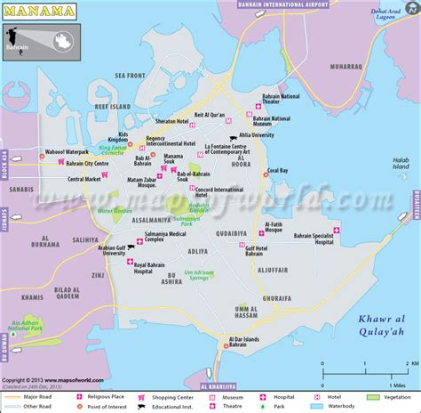 Manama Map | Map of Manama City, Bahrain