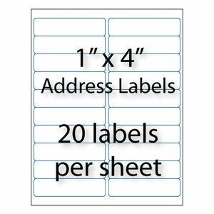 address labels 4quot x 1 quot 20 up averyr 5161 5961 With avery 5161 template word