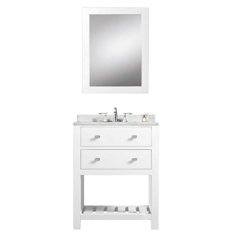 24 inch vanity with sink madalyn 24 inch white single sink bathroom vanity