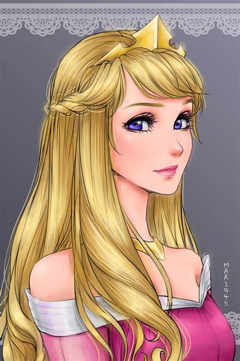 asi lucirian las princesas disney  fueran al estilo anime