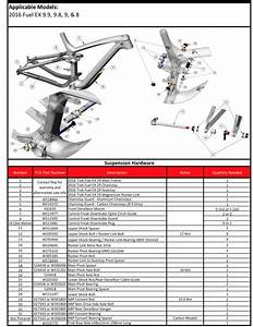 2016 Trek Fuel Ex Suspension Diagrams View