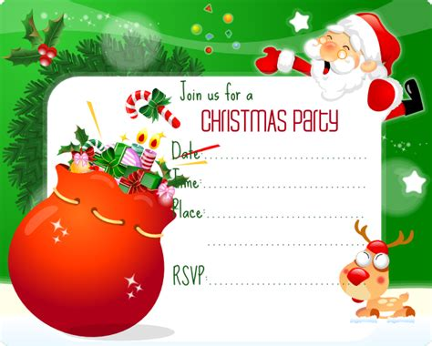 christmas party invitation template best template collection