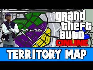 Grand Theft Auto V - Gang Territories Map! - YouTube