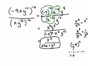 Negative Exponents And Fractions Worksheet