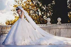 real bride in a gorgeous michael cinco wedding dress With michael cinco wedding dresses