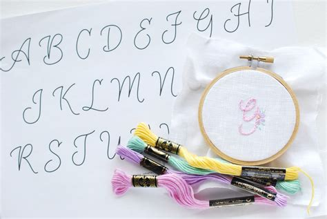 alphabet pattern  monogram embroidery