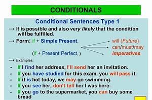 Conditional, Sentences, Examples, Type, 1, 2, 3, Pdf