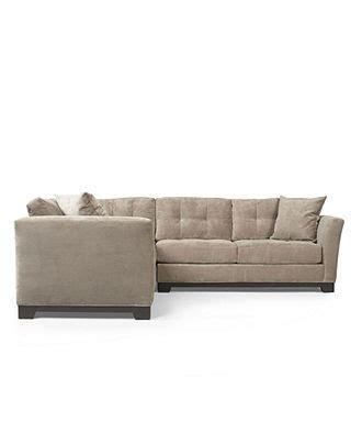 macys elliot sofa elliot fabric microfiber 2 sectional sofa