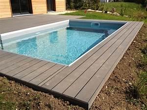Bois Terrasse Piscine : abords de piscine en bois composite ~ Edinachiropracticcenter.com Idées de Décoration