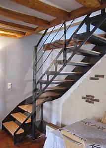 Escalier Bois Intérieur : photo dt104 esca 39 droit 1 4 tournant interm diaire ~ Premium-room.com Idées de Décoration