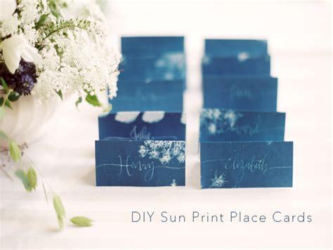 diy sun print wedding escort cards once wed