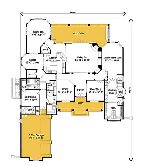southern style floor plans southern style house plan 4 beds 4 baths 4840 sq ft plan