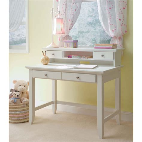 white student desk with hutch 42015530162 055